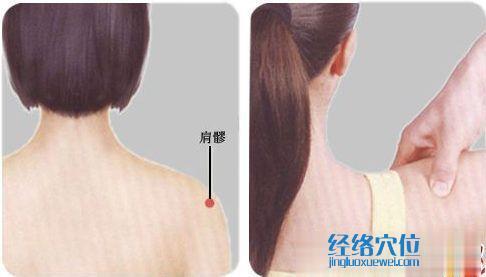 按摩肩髎穴的手法示范图