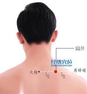 肩井穴的准确位置图