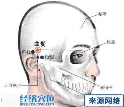 曲鬓穴的位置解剖分析图