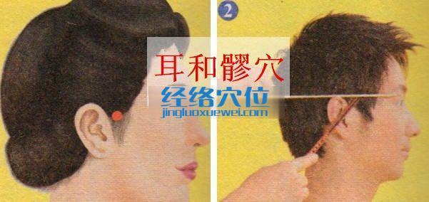 耳和髎穴位位置图