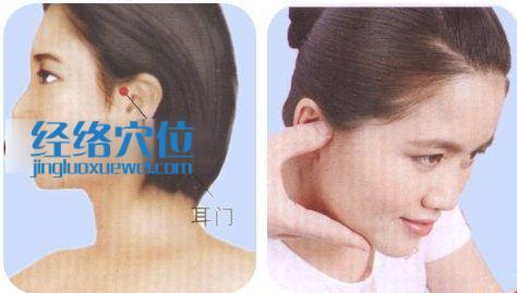 耳门穴的按摩方手法指导示范