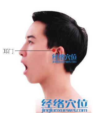 耳门穴位位置图