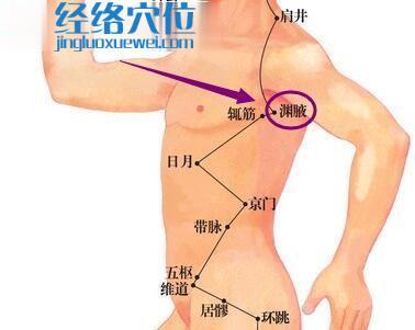 渊腋穴位图