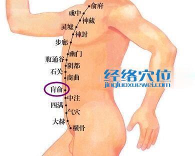 肓俞穴位位置图