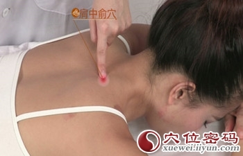 肩中俞穴的准确位置图
