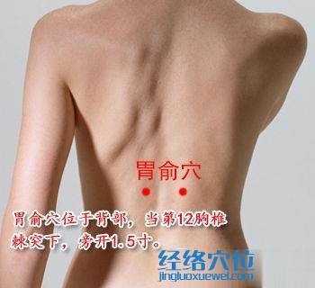 胃俞穴位位置图