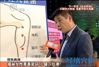 小腿穴位:阴陵泉穴、地机、漏谷穴、三阴交穴的穴位图